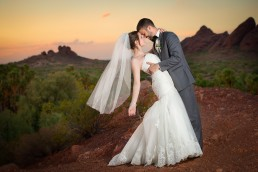 Adam and Lindsey's wedding photographed at the Papago Park in Phoenix, Arizona by Paul Davis Photography
