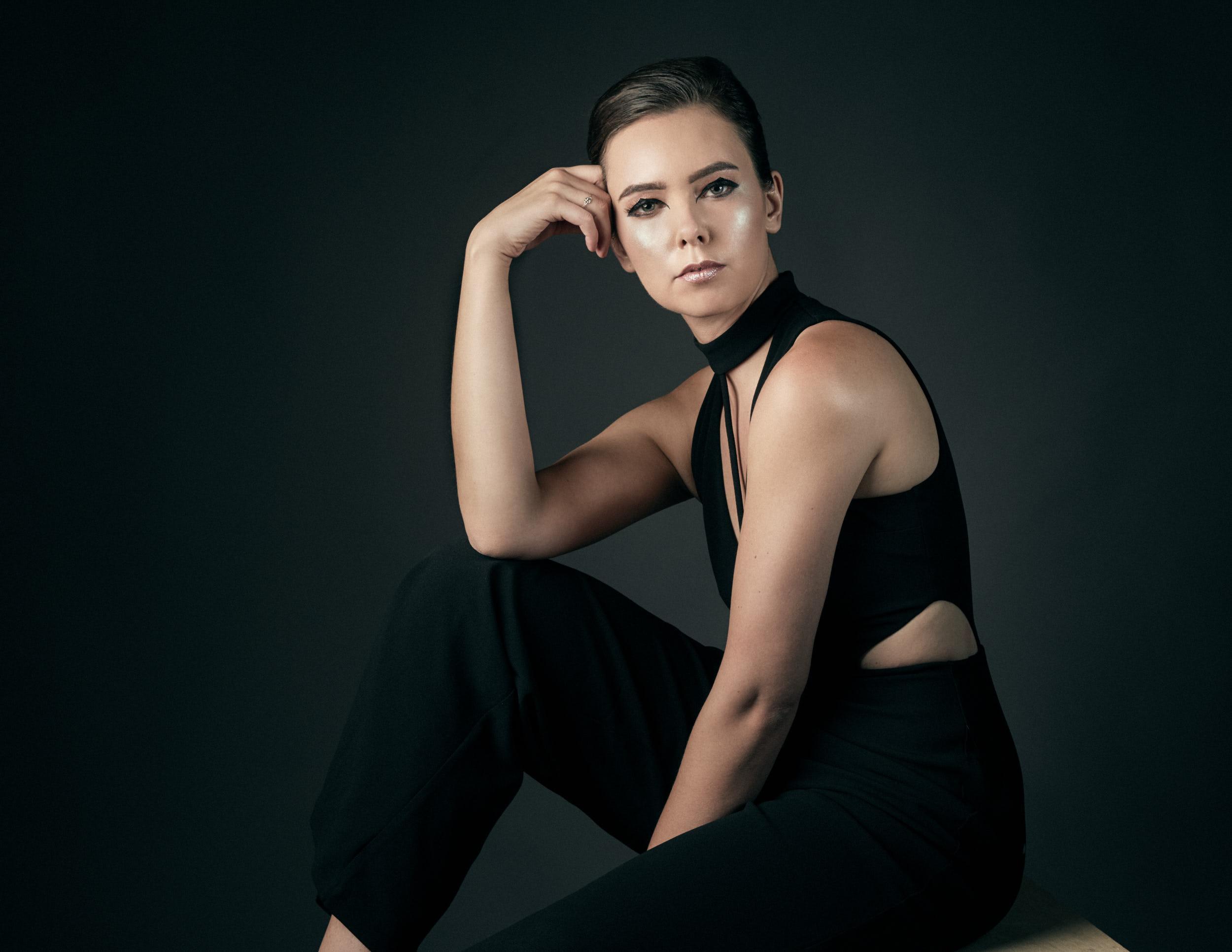 Studio fashion photography session with Amandine Marie. Photographed by Paul Davis, Tucson, Arizona.
