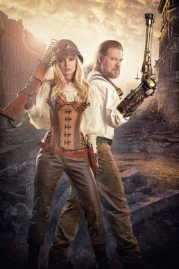 Aftermath - A steampunk themed movie poster concept created for Thomas Willeford & Amy Wilder by Paul Davis Photography, Tucson Arizona.
