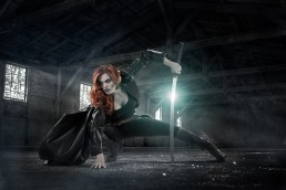 Comic book character, gothic, Halloween themed photo composite by Paul Davis Photography, Tucson, Arizona.