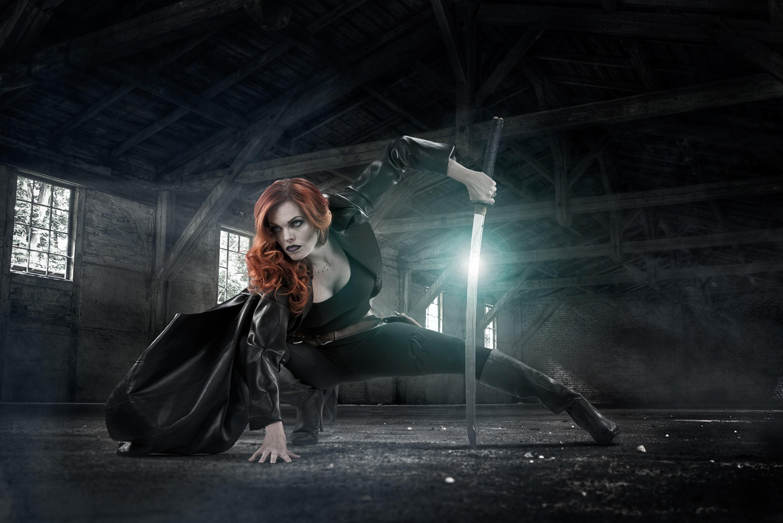 Comic book character, gothic, Halloween themed photo composite by Paul Davis Photography, Tucson, Arizona.