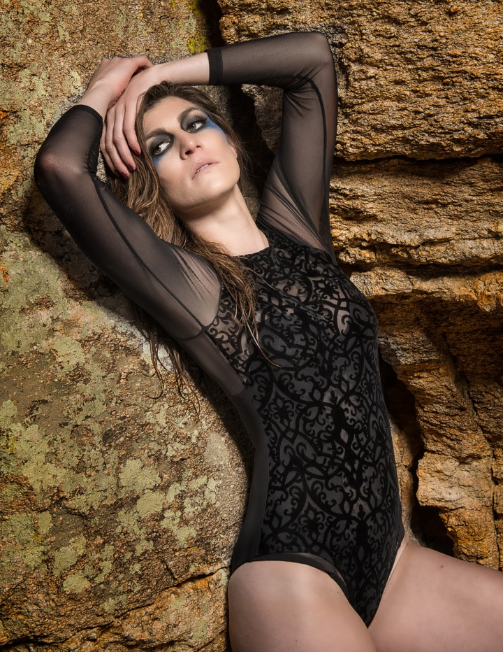 Between a Rock and a Hard Place: a fashion editorial shot by Paul Davis Photography on Mt. Lemmon near Tucson, Airzona