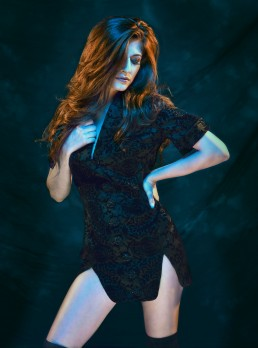 Dark fashion, fashion shot for Tucson clothing designer Esteban by Paul Davis Photography, Tucson, Arizona.