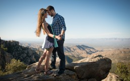 Engagement session with Adam and Lindsey on Mt. Lemmon. Photographed by Paul Davis Photography, Tucson, Arizona