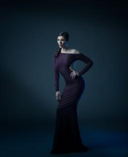 Studio fashion featuring dresses by Shalon photographed by Paul Davis Photography, Tucson, Arizona.