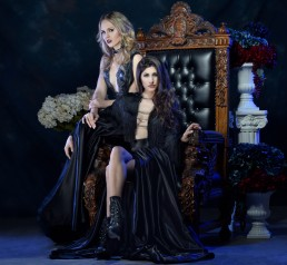 Dark fashion, gothic shot for Tucson clothing designer Esteban by Paul Davis Photography, Tucson, Arizona.