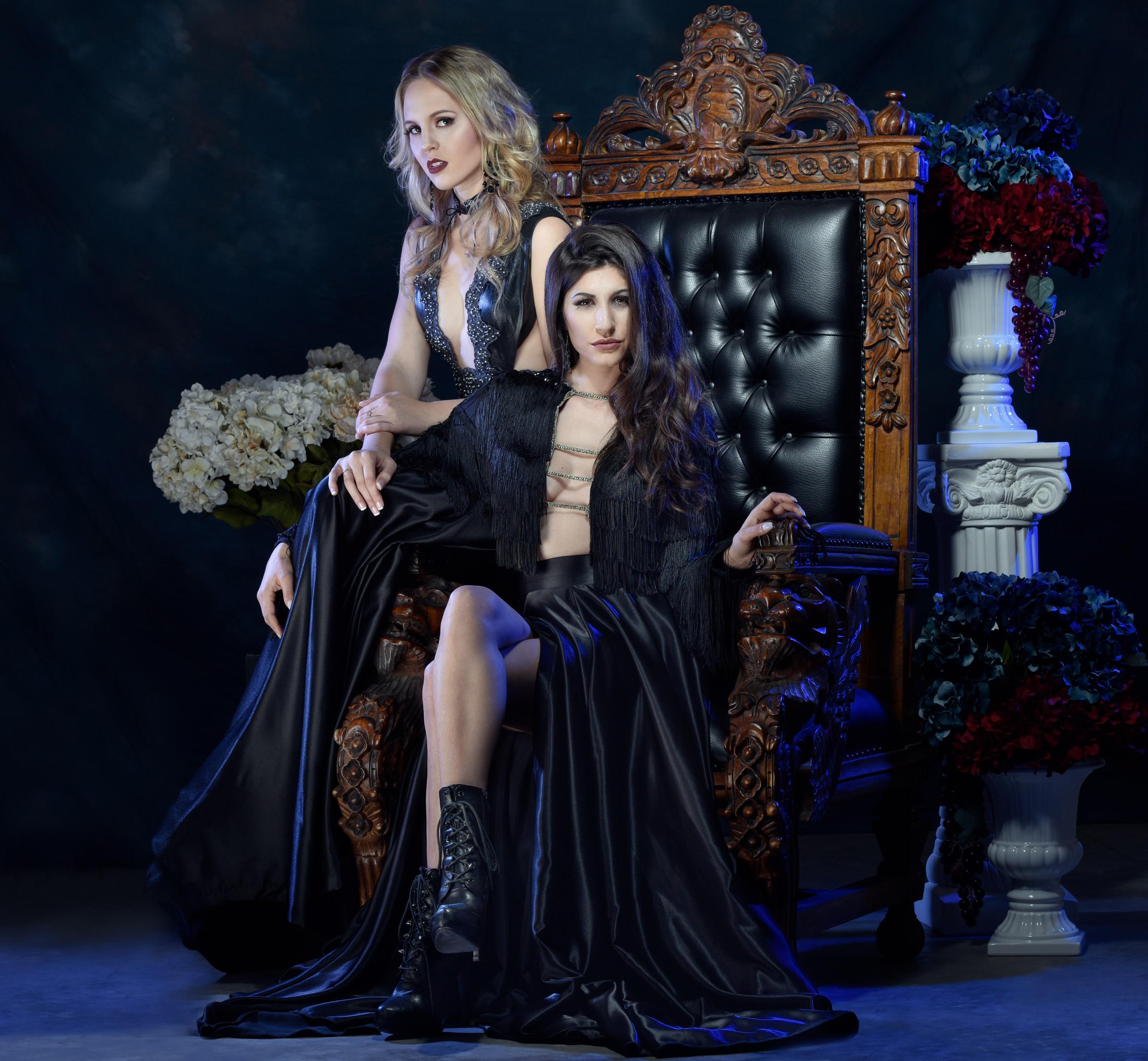 Dark fashion, gothic shot for Tucson clothing designer Esteban by Paul Davis Photography, Tucson, Arizona.