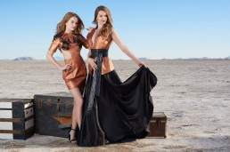 Fashion editorial shot for Tucson clothing designer Esteban on the Wilcox Playa by Paul Davis Photography, Tucson, Arizona