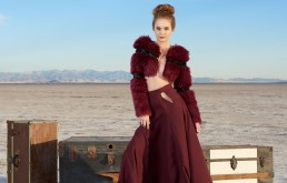 Fashion editorial shot for Tucson clothing designer Esteban on on the Wilcox Playa by Paul Davis Photography, Tucson, Arizona