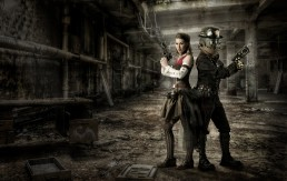 Steampunk themed character poster created by Paul Davis Photography, Tucson, Arizona.