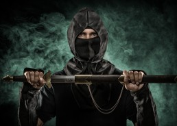 Ninja composite portrait photographed by Paul Davis Photography, Tucson, Arizona.