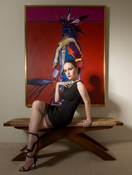 Editorial fashion shoot featuring the clothing of Laura Tanzer photographed on location by Paul Davis Photography.