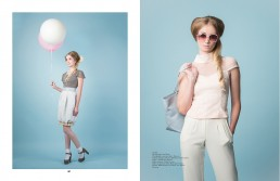 Fashion editorial published in Meraki Magazine featuring clothing from designer Theo Doro.