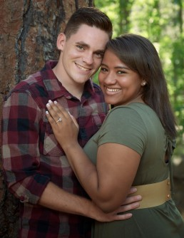 Engagement photo taken on Mt. Lemmon, Tucson, Arizona by Paul Davis Photography.