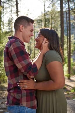 Engagement photo taken on Mt. Lemmon, Tucson, Arizona by Paul Davis Photography.