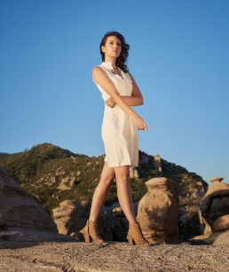 Fashion portrait session with Amadine Marie, shot on location at Mt. Lemmon in Tucson, Arizona by Paul Davis Photography.