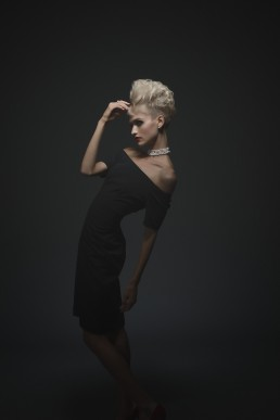 Dark fashion portraits of Shannon Fabry shot in the studio by Paul Davis Photography