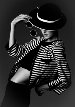Dark fashion portraits of Shannon Fabry shot in the studio by Paul Davis Photography
