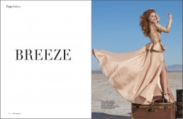 Published Editorial: Breeze featured in PUMP Magazine, shot on location at the Wilcox Playa in Wilcox, Arizona.