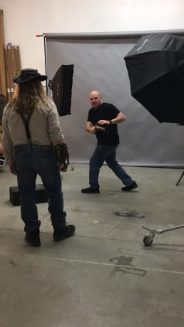 Behind the scenes with Paul Davis Photography: Thomas Dean Willeford and Amy Wilder steampunk photo shoot.