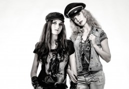 Studio Session with Bell and Sarah with Rock n' Roll inspired fashion.