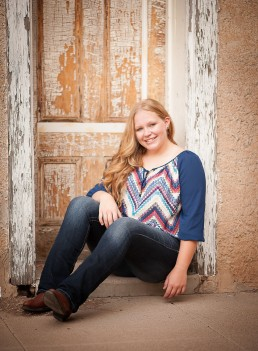 Senior Portrait session with Bailie taken on location at Empire Ranch by Paul Davis Photography.