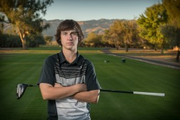Senior Portrait session with Nick taken on location at 49er Country Club by Paul Davis Photography in Tucson Arizona