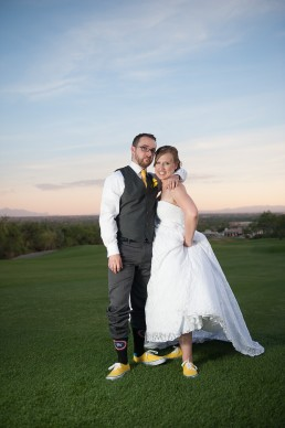 Matt and Jen's wedding photos taken at Arizona National Golf Club in Tucson, Arizona by Paul Davis Photography