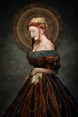 A gothic fashion themed photo editorial featuring a custom made dress by Kelsie McEntire of @ithildincosplay.
